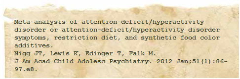 additives symptoms of attention deficit research 3
