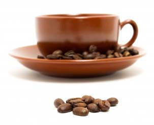 coffee cup beans