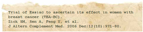 essiac tea breast cancer reference study #3 image